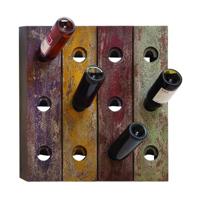 12 Bottle Wall Mounted Wine Holder