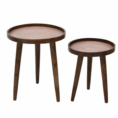 2 Piece Nesting Tables Finish: Copper
