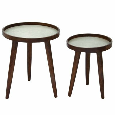 2 Piece Nesting Tables Finish: Silver