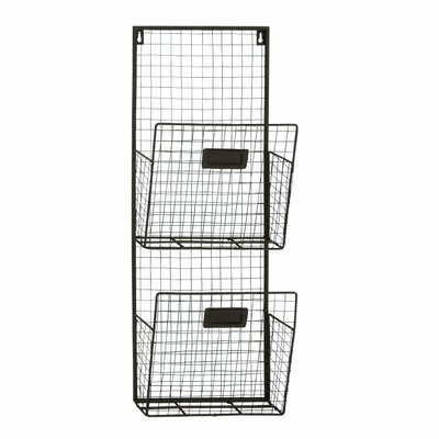 Metal 2-Tier Wall Pocket