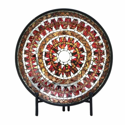 Metal Mosaic Platter with Easel 42143