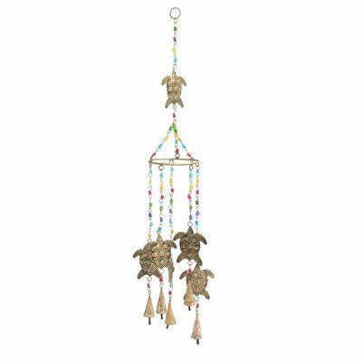 Metal Glass Turtle Wind Chime