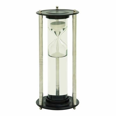 Aluminum Glass Floating Sand Timer Hourglass