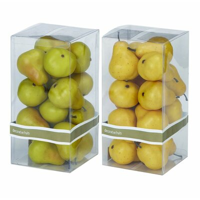 2 Piece Decorative Foam Pear Box Set (Set of 2)