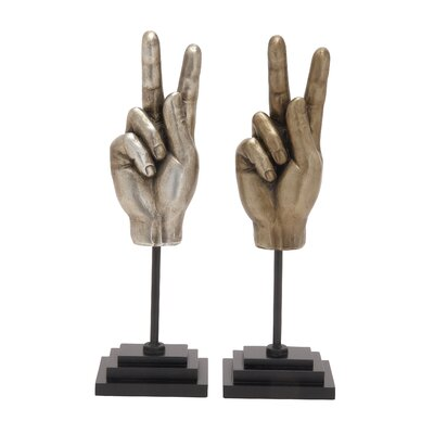 Polystone Wood Hand Sign
