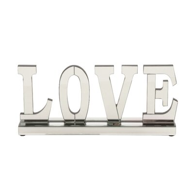 Decorative Love Wood Mirror Letter Blocks