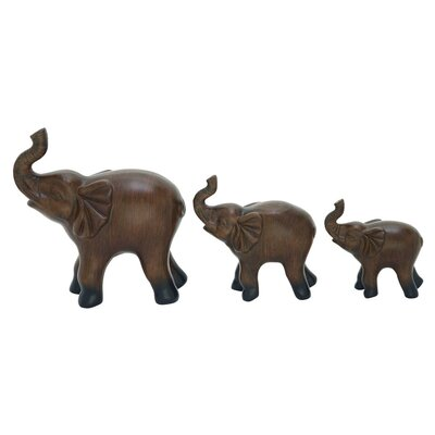 3 Piece Elephant Sculpture Set