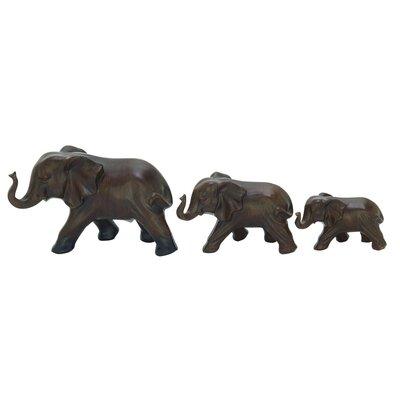 3 Piece Elephant Figurine Set