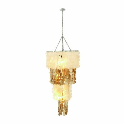 Capiz 3-Light Mini Chandelier