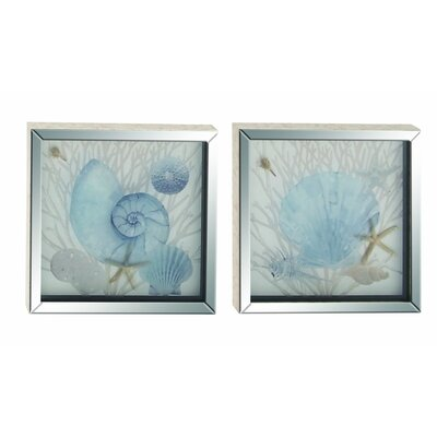 2 Piece Framed Graphic Art Set (Set of 2) 39594