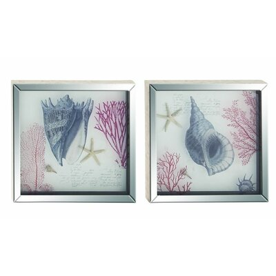 2 Piece Framed Graphic Art Set (Set of 2) 39593