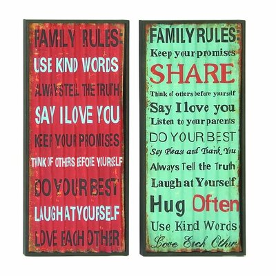 2 Piece Textual Art Set (Set of 2) 54788