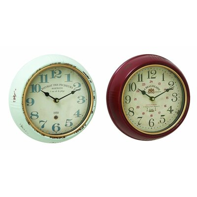 2 Piece Wall Clock Set (Set of 2) 52564