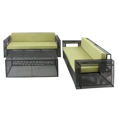 Rockhampton 3 Piece Sofa Set with Cushion