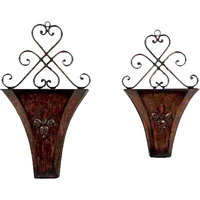 2 Piece Novelty Wall Planter Set 75727