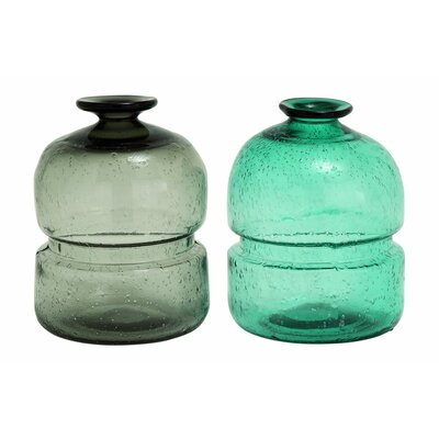 2 Piece Glass Table Vase Set (Set of 2) 99820