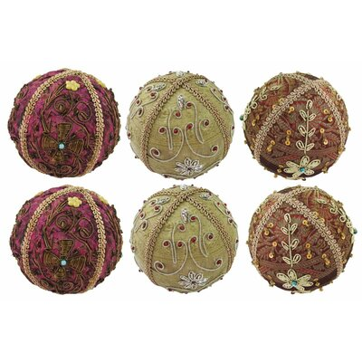 6 Piece Embroidery Decorative Ball Set 16181