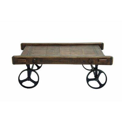 Wood / Metal Cart Coffee Table