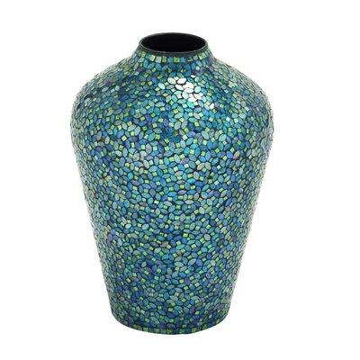 Metal Mosaic Floor Vase 24133