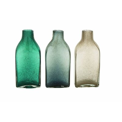 Glass Bottle Table Vase Size: 11 H x 6 W x 4 D