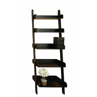 Wood 75 Leaning Bookcase