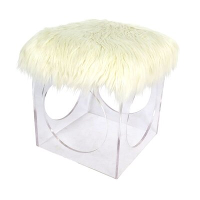 Acrylic Faux Fur Stool 54995