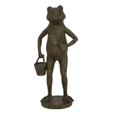 Polystone Frog Figurine 38236