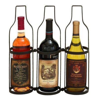 Metal 3 Bottle Tabletop Wine Bottle Rack