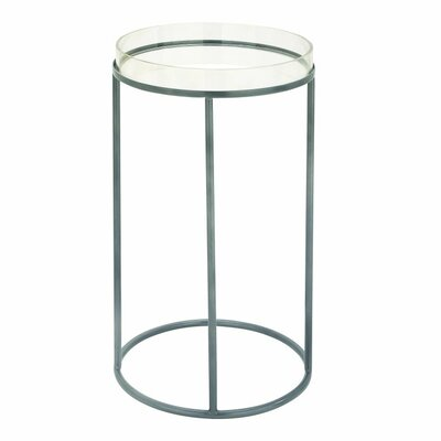 Metal and Acrylic Tray End Table