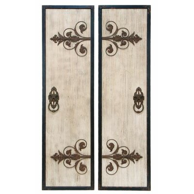 2 Piece Metal Plaque Wall Décor Set