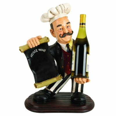 Polystone Chef 1 Bottle Tabletop Wine Bottle Rack