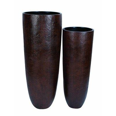 Metal 2 Piece Floor Vase Set 53188