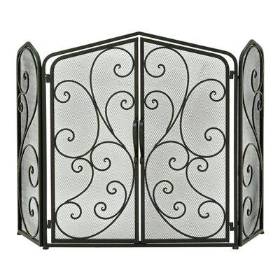 3 Panel Metal Fireplace Screen 44576