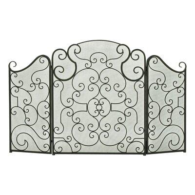 3 Panel Metal Fireplace Screen 44574