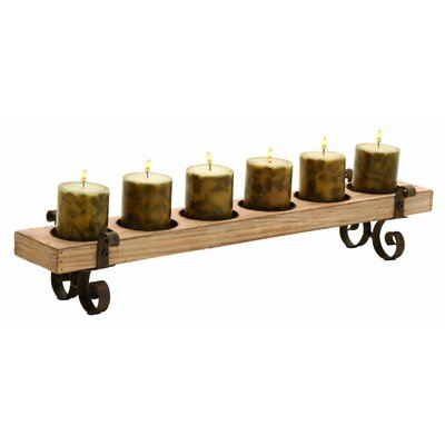 Wood and Metal Candelabra