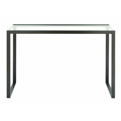 2 Piece Metal Glass Console Table Set