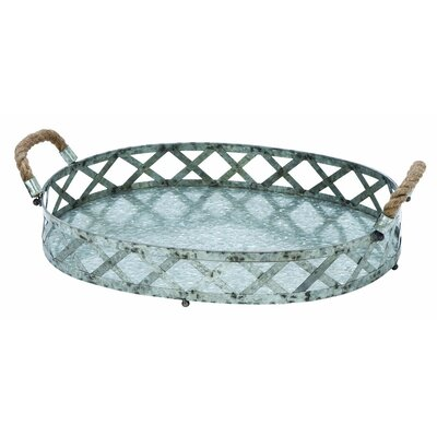 Metal Galvanized Accent Tray