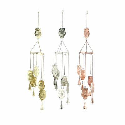 Metal Owl Wind Chime 48066