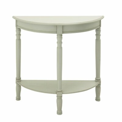 Wood Half Round Console Table Color: Ivory