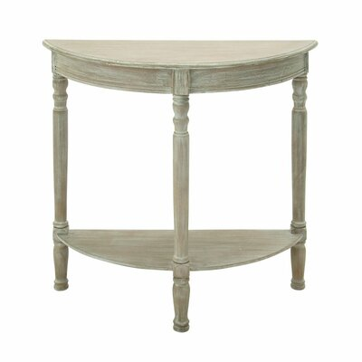 Wood Half Round Console Table Color: Whitewash Taupe