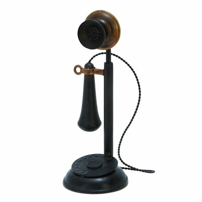 Metal Antique Phone Sculpture