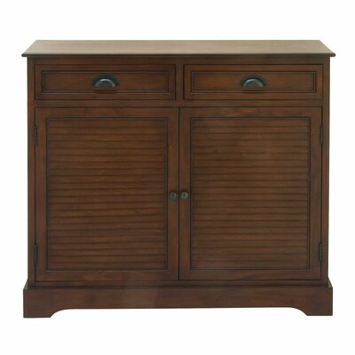 2 Door 2 Drawer Wood Accent Cabinet Finish: Brown
