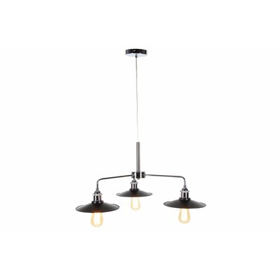 Metal 3-Light Kitchen Island Pendant