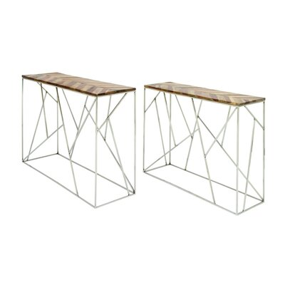 Stainless Steel/Wood Console Table 72934