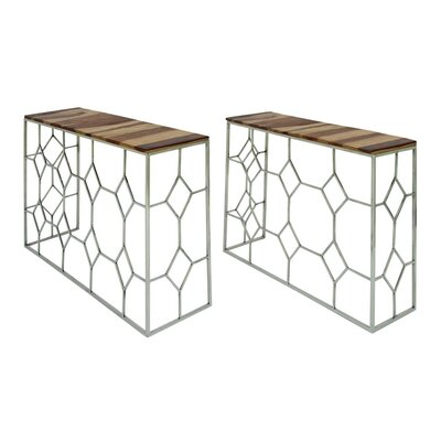 Stainless Steel/Wood Console Table 72935