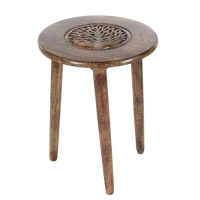 Wood Tripod Round End Table Finish: Dark Brown