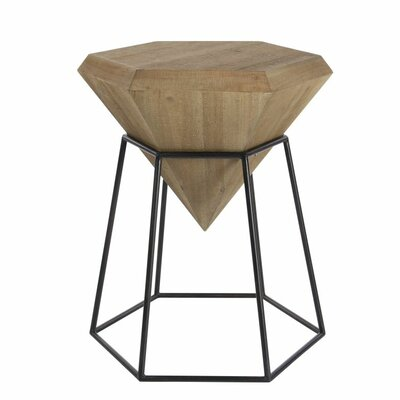 Wood/Metal Diamond End Table Finish: Stained Brown