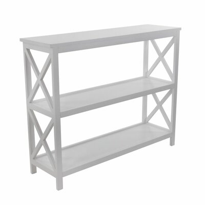 Wood Console Table Finish: White