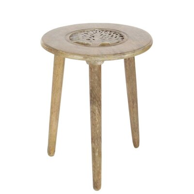 Wood Tripod Round End Table Finish: Brown