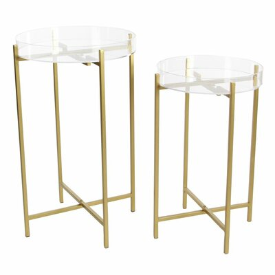 Metal/Acrylic 2 Piece Nesting Tables